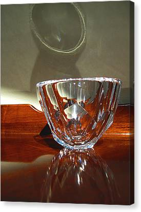 Canvas Print featuring the photograph Two Reflections by Mary Bedy