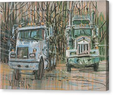 Two Rigs Canvas Print