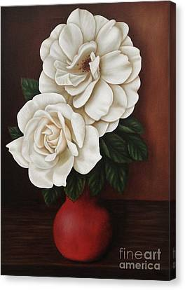 Two Roses Canvas Print by Paula Ludovino