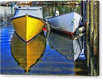 Two Row Boat At Fisherman's Cove Canvas Print by Ken Morris