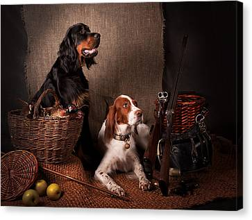 Canvas Print - Two Setters... by Tanya Kozlovsky