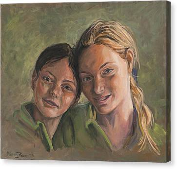 Two Sisters Canvas Print by Marco Busoni