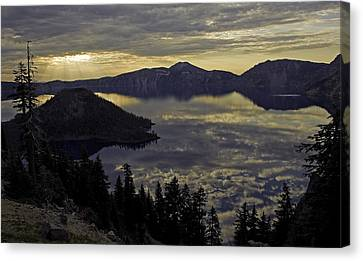 Canvas Print featuring the photograph Two Skys At Sunrise by Gary Neiss