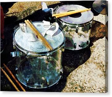 Two Snare Drums Canvas Print by Susan Savad