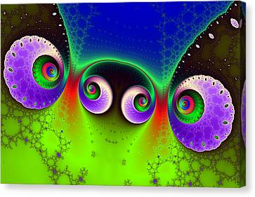 Two Spirals And A Glynn Canvas Print by Mark Eggleston