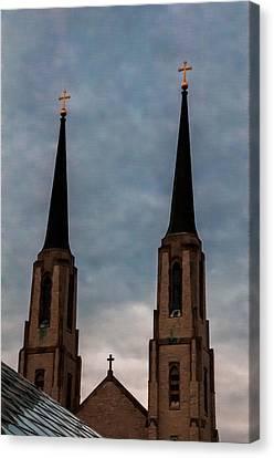Two Steeples Three Crosses Canvas Print by Gene Sherrill