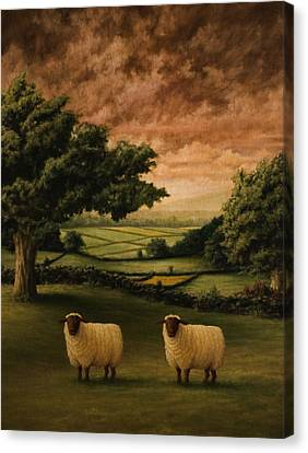 Lamb Canvas Print - Two Suffolks by Mark Zelmer