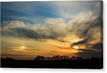 Canvas Print featuring the photograph Two Suns Over Kentucky by Peta Thames