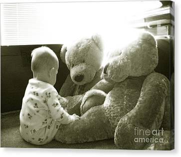 Two Teddy Bears Canvas Print by Cadence Spalding