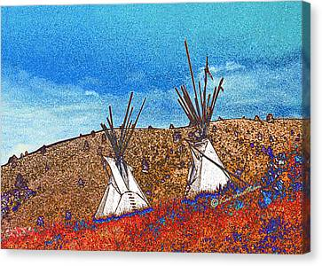 Two Teepees Canvas Print