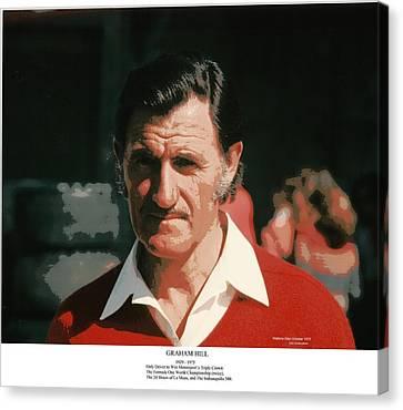 Two-time Formula One World Champion Graham Hill Canvas Print by Don Struke