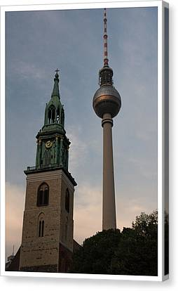 Two Towers In Berlin Canvas Print
