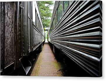 Two Trains Canvas Print by Crystal Hoeveler