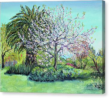 Two Trees Like Springtime Lovers Canvas Print