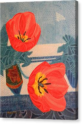 Two Tulips Canvas Print by Adel Nemeth