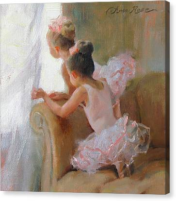 Two Tutus Canvas Print by Anna Rose Bain