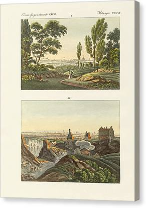 Two Views Of Paris Canvas Print