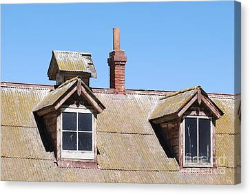 Two Window Roof Canvas Print by George Mount