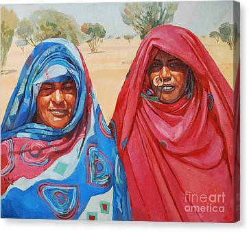 Two Women 2 Canvas Print by Mohamed Fadul