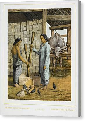 Two Women Of Java Canvas Print