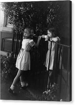 Two Young Girls Canvas Print