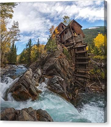 Crystal Mill Canvas Print - Twystal Mill by Dustin  LeFevre