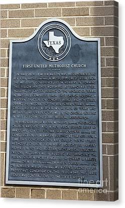 Medical Appeal Canvas Print - Tx-6418 First United Methodist Church Of Austin by Jason O Watson