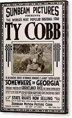 Ty Cobb - Movie Poster Canvas Print by Charlie Ross