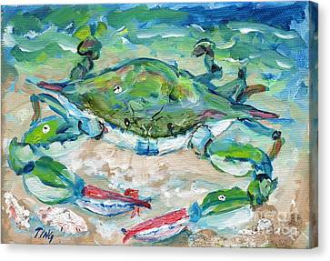 Tybee Blue Crab Mini Series Canvas Print by Doris Blessington