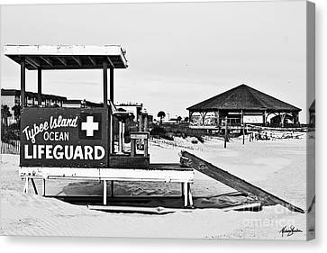 Tybee Island Lifeguard Stand Canvas Print by Melissa Sherbon