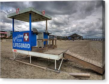 Tybee Island Lifeguard Stand Canvas Print by Peter Tellone