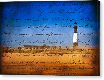 Tybee Island Lighthouse - A Sentimental Journey Canvas Print by Mark E Tisdale