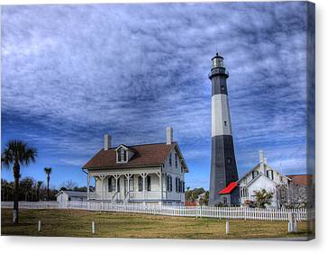 Tybee Island Lighthouse Canvas Print by Donald Williams