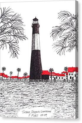Tybee Island Lighthouse Canvas Print by Frederic Kohli