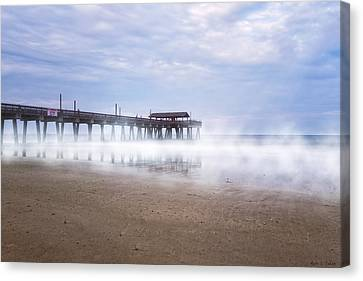 Tybee Island Pier Canvas Print by Mark E Tisdale
