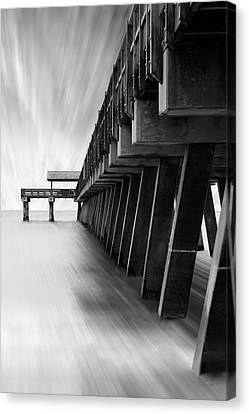 Mike Canvas Print - Tybee Island Pier by Mike McGlothlen