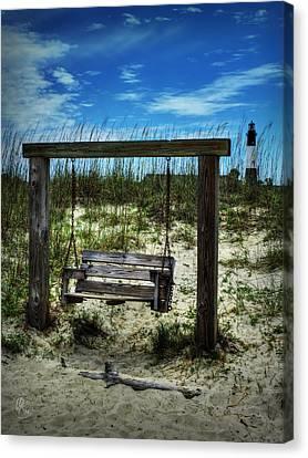Tybee Island Swing 001 Canvas Print by Lance Vaughn