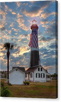 Tybee Lighthouse Canvas Print by Peter Tellone
