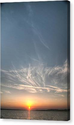 Tybee Sunset 2 Canvas Print by Dem Wolfe