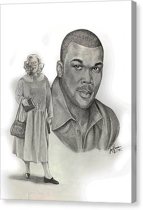 Tyler As Madea Canvas Print by Joyce Hayes