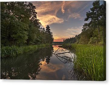Tyler State Park Lake At Sunset Canvas Print