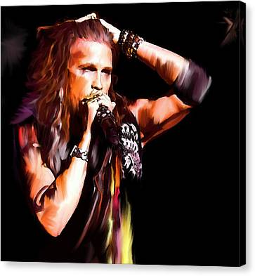 Steven Tyler  Tyler II Canvas Print by Iconic Images Art Gallery David Pucciarelli