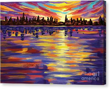 Canvas Print featuring the painting Tyler's Sunrise by Tim Gilliland