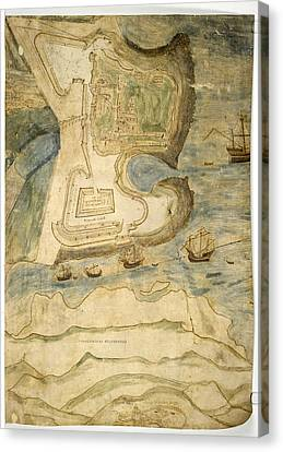 Tynemouth Castle Canvas Print by British Library