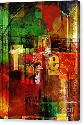 Graphics Canvas Print - Type Art by Lutz Baar