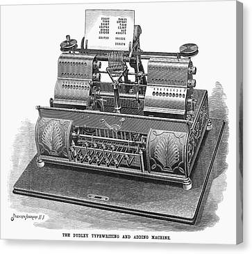 Typewriter, 1896 Canvas Print