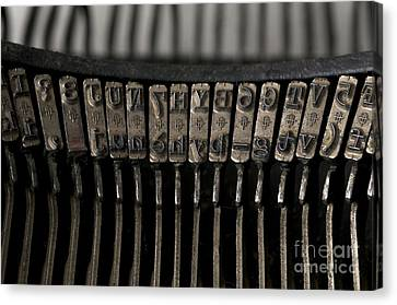 Typewriter Canvas Print by Bernard Jaubert