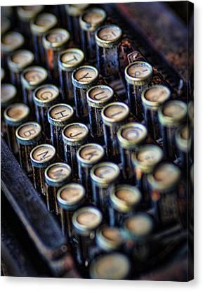 Typewriter Keys Canvas Print by David and Carol Kelly
