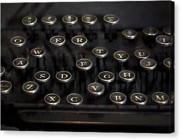 Typewriter Keys Canvas Print by Jessica Berlin