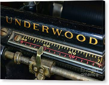 Typewriter Paper Guide Canvas Print by Paul Ward